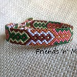 Friendship Bracelet - brown & green arrow pattern
