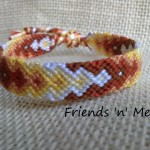 Friendship Bracelet - Brown and Yellow Arrow Pattern