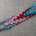 Rainbow pattern friendship bracelets