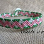 Friendship Bracelet - Pink Zig Zag Pattern